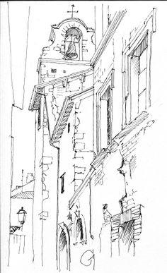 San Gemini, Italy - sketch - pen