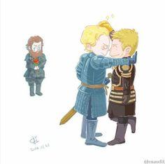 Jaime et Brienne pauvre Tormund... mais JxB ❤