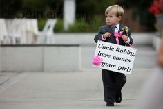 love this idea instead of a ring bearer... Beth Erisman Photography