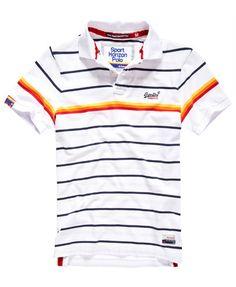 optic Superdry Retro Sport Horizon Polo Shirt