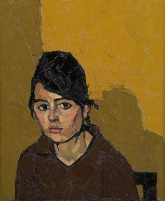"Kyffin Williams ""German Girl"" 1963 oil on canvas 61x51cm"