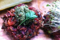 Farmer John's Beet & Carrot Burgers with Brown Rice, Sunflower Seeds and Cheddar