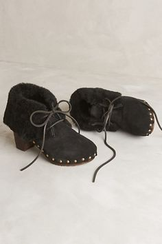 Anthropologie | Winter shearling Clogs