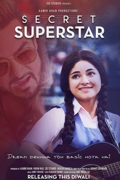 The second poster of Secret Superstar is out and this time, music lover Zaira Wasim looks upto her mentor, Aamir Khan! - Secret Superstar second poster: Zaira Wasim Hindi Movies, Streaming Vf, Streaming Movies, Bollywood Movies 2017, Bollywood Songs, Disney Pixar, Films Chrétiens, Comedy, Dylan Mcdermott