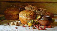 Still Life With Strawberries - oil, canvas - Yury Nikolaev