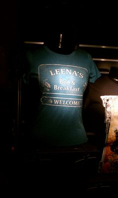 "Leena´s Bed and Breakfast shirt, from ""Warehouse Best Series, Best Tv Shows, Best Shows Ever, Favorite Tv Shows, Star Trek Enterprise, Star Trek Voyager, Felicia Day, Warehouse 13, Architecture Tattoo"