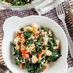Ensalada de kale, quinoa y mozzarella, una idea saludable para la comida ☺ #food #foodie #recetas #recipes #saludable #veggy #vegetariano #ensalada ##kale #quinoa