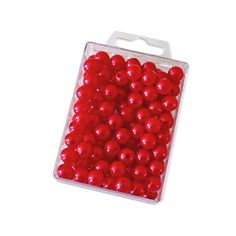 Dekoperlen 10 mm zum Fädeln - Box mit ca. 115 Stück - rot