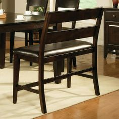 Counter height bench gives traditionalism into dining set. Stools and chairs combined with bar height bench seating add more enjoyable dining atmosphere Steve Silver Furniture, Counter Height Bench, Dining Bench, Dining Chairs, Dining Room, Dining Sets, Bench Designs, Victoria, Wood Vinyl