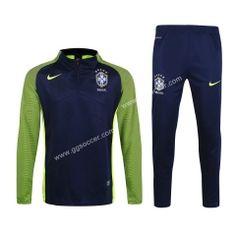 2016/17 Brazil Royal Blue Thailand Soccer Sweater Uniform
