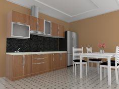 Finishing Furniture dengan HPL Made Custom Sesuai Pesanan Kitchen Sets, Kitchen Design, Cool Designs, Wood, Interior, Modern, Table, Furniture, Home Decor
