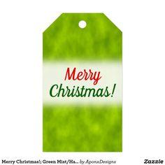 Green Mist/Haze/Fog-Like Pattern Christmas Gift Tags, Merry Christmas, Green, Pattern, Cards, Merry Little Christmas, Patterns, Wish You Merry Christmas, Maps