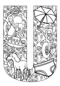 Things that start with U - Free Printable Coloring Pages