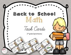 Back to School Task Cards are a fun yet engaging way to review 2nd grade skills at the beginning of the year.  Cut some music on and get the students moving around the room with these 24 fun task cards.Task Cards have several usages and a great new hit in classroom.Task cards usage includes, but are not limited to:- whole group activity- scoot activity- hang them on the wall- small group review- fun quizThis set of 24 task cards (answer key included) will allow your students to practice…