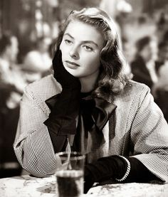 Ingrid Bergman - suit by Edith Head - Notorious 1946.