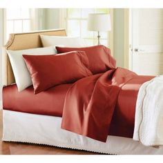Better Homes and Gardens 350 Thread Count Hygro Cotton Percale Sheet Set, Brown