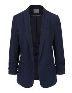 Vero Moda - Tmavě modrý blejzr s nařasenými rukávy  Dana - 1