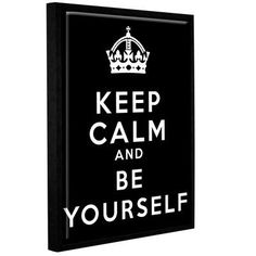 ArtWall Keep Calm And Be Yourself by Art D Signer Kcco Framed Textual Art on Wrapped Canvas Size: