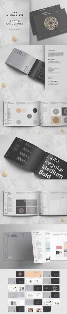 The Minimalist - Brand Guidelines. Brochure Templates. $24.00