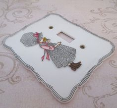 Holly Hobbie Switch Plate 1970s Plastic Light by TheBeadSource
