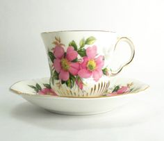 Vintage Royal Adderley tea cup and saucer  by indiecreativ on Etsy, $17.00