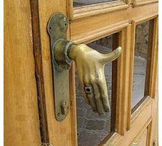 Funny,door handle (: