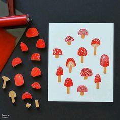 Andrea Lauren: Block Printing Stamps by Diy Stamps, Handmade Stamps, Stamp Printing, Printing On Fabric, Screen Printing, Stencil, Eraser Stamp, Stamp Carving, Linocut Prints