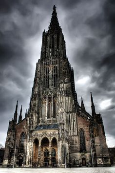 Ulm Minster, Ulm, Germany - the tallest building in the world from 1890 to 1901…