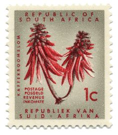 Republic of South Africa vintage stamp. BelAfrique your personal travel planner - www.BelAfrique.com