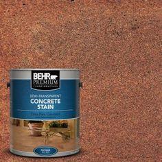 Saltillo Tile Semi-Transparent Flat Interior/Exterior Concrete - The Home Depot Concrete Stain Colors, Concrete Cleaner, Acid Stained Concrete, Painting Concrete, Wood Stain, Concrete Porch, Concrete Bricks, Concrete Floors, Flats