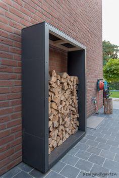 Design Holzlager wood in 40885 Ratingen design garden - Modern Modern Garden Design, Landscape Design, Design Wood, Layout Design, Design Design, Warehouse Design, Firewood Storage, Modern Landscaping, Garden Beds