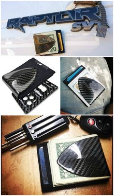The Billetus MAXX Minimalist Wallet is made from exotic and high tech materials such as carbon fiber, titanium and ballistic nylon, the same material used for building high speed cars and airplanes.