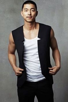 Gong Yoo. The if-Eddie-Munster-joined-the-army-military-crew-cut