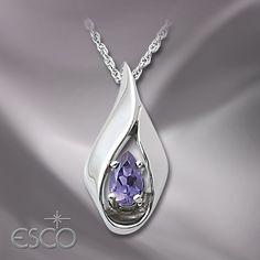10K White Gold Eliza Pendant - Necklaces - Women's - Fashion Jewelry