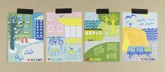 Muumuru postcards: Lempi Helsinki sarja Helsinki, Postcards, Greeting Card