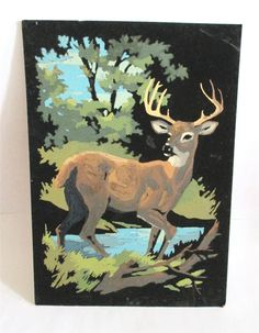 Vintage Deer Paint by Numbers by CnCpopupshop on Etsy, $25.00