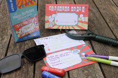 Detektivparty: Deko, Spiele, Rezepte und mehr - Lavendelblog Geheimagenten Party, Invitation Cards, Invitations, Birthday, Kids, Birthday Celebrations, Prize Draw, Game Ideas, Games