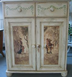 Decoupage On Furniture | Decoupage furniture | Flickr - Photo Sharing!