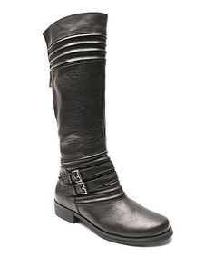 Look at this #zulilyfind! Black Jellied Leather Boot by Two Lips #zulilyfinds