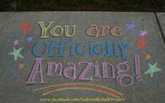 Chalk Ideas, Sidewalk Chalk Art, Chalk Drawings, Running Motivation, Chalkboard Art, Chalk Board, Pta, Diy Projects To Try, Quotable Quotes