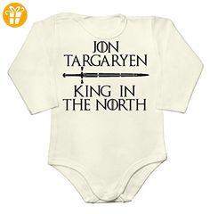 Jon Snow Targaryen King in the North Baby Long Sleeve Romper Bodysuit Medium - Baby bodys baby einteiler baby stampler (*Partner-Link)