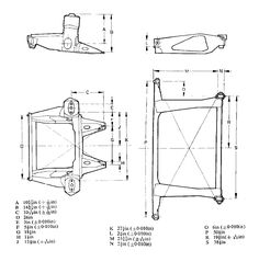 austin mini rear subframe mounting dimensions - Google Search Mini Cooper Classic, Mini Cooper S, Classic Mini, Classic Cars, Mini Uk, Austin Seven, Mini Rolls, Mini Cooper Clubman, Mini Drawings