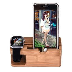 Bamboo Wood Charging Station Charger Dock Stand Holder For Apple Watch Phone Pho - Apple Charger Cord - Ideas of Apple Charger Cord - Bamboo Wood Charging Station Charger Dock Stand Holder For Apple Watch Phone Phone For iWatch For iPhone Apple Watch Phone, Ipad, Iphone Charger, Iphone 6, Solar Charger, Phone Holder, Watch Holder, Portable, 6s Plus