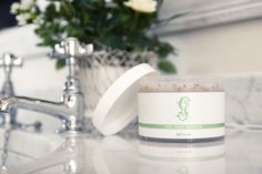 Our own Herb Garden salt scrub. a real skin tonic
