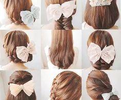 Cute hairstyle ~~ ♥