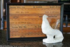 Yardstick tray from Mamie Jane's