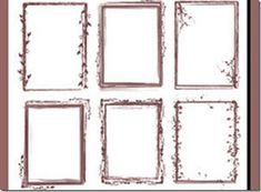 1000 Frames And Borders Photoshop Brushes Free Download