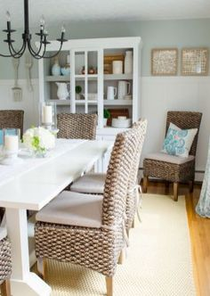 Farmhouse Style Dining Room Furniture Decor Ideas (45)