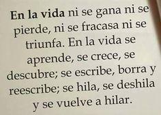 En la vida... #reflexiones