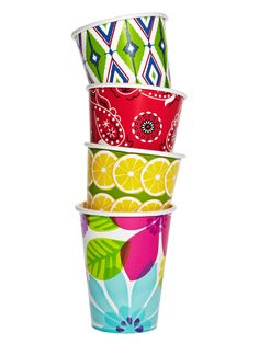 Paper party cups don't have to be boring #hgtvmagazine http://www.hgtv.com/design/make-and-celebrate/entertaining/dozens-of-fun-outdoor-party-ideas-pictures?soc=pinterest